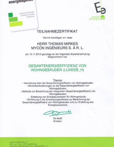 Zertifikat Energiepass Wohngebäude