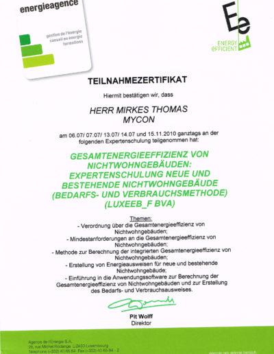 Zertifikat Energiepass Nichtwohngebäude